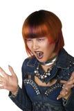 Portret młoda kobieta z ekstrawagancką fryzurą Zdjęcie Royalty Free