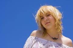 Portret młoda piękna dziewczyna Obrazy Royalty Free