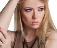 Portret młoda piękna dziewczyna Zdjęcia Stock