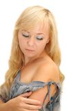 Portret młoda piękna kobieta Zdjęcia Royalty Free
