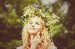 Portret młoda piękna kobieta Obrazy Stock