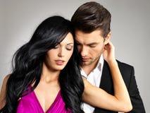 Portret młoda piękna para w miłości Zdjęcia Stock