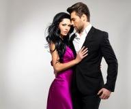 Portret Młoda piękna para w miłości Zdjęcia Royalty Free