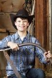 Portret młoda rolna chłopiec Obrazy Royalty Free