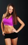 Portret młoda sprawności fizycznej kobieta Fotografia Royalty Free