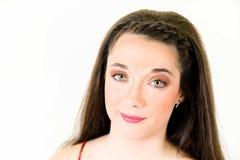 Portret młodej kobiety zakończenia up twarz Obraz Royalty Free