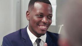 Portret młody afro amerykański prawnik