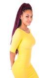 Portret Młody Afrykański kobiety ono Uśmiecha się Fotografia Royalty Free