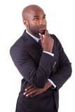 Portret młody amerykanina afrykańskiego pochodzenia biznes Zdjęcie Royalty Free