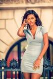 Portret Młody amerykanina afrykańskiego pochodzenia bizneswoman w Nowy Jork Zdjęcie Stock