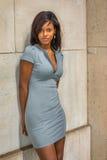 Portret Młody amerykanina afrykańskiego pochodzenia bizneswoman w Nowy Jork Zdjęcia Royalty Free