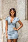 Portret Młody amerykanina afrykańskiego pochodzenia bizneswoman w Nowy Jork Fotografia Stock