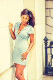 Portret Młody amerykanina afrykańskiego pochodzenia bizneswoman w Nowy Jork Zdjęcie Royalty Free