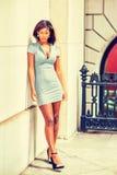 Portret Młody amerykanina afrykańskiego pochodzenia bizneswoman w Nowy Jork Obraz Stock