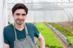Portret młody atrakcyjny rolnik obraz royalty free