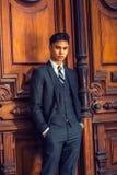 Portret Młody Azjatycki Amerykański Biznesowy mężczyzna w Nowy Jork Zdjęcia Royalty Free