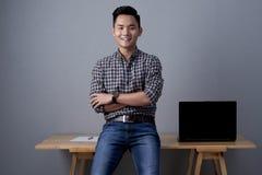 Portret młody azjatykci biznesmen zdjęcia stock