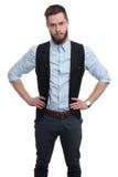 Portret młody biznesmen z brodą Zdjęcie Royalty Free