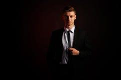 Portret młody biznesowy mężczyzna Fotografia Royalty Free