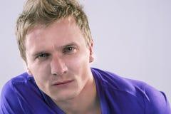 Portret młody caucasian mężczyzna Zdjęcie Stock
