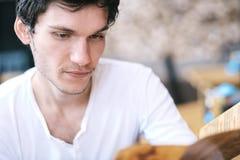 Portret młody człowiek Obraz Stock