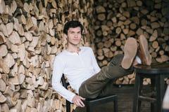Portret młody człowiek Fotografia Royalty Free