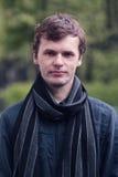 Portret młody człowiek w St Petersburg mieście lata ogrodu Obrazy Stock