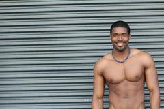 Portret Młody Czarny sprawność fizyczna facet Obrazy Royalty Free