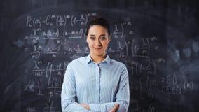 Portret młody mądrze mądry kobieta nauczyciela wykładowca zbiory