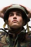 Portret młody męski żołnierz Fotografia Stock