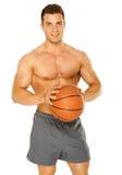 Portret młody męski gracz koszykówki Fotografia Royalty Free