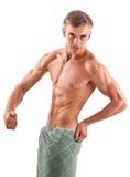 Aryjczyk - przyglądający młody bodybuilder Obraz Royalty Free