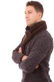 Portret młody przypadkowy mężczyzna Fotografia Royalty Free
