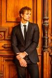 Portret Młody Seksowny Klasyczny Biznesowy mężczyzna Zdjęcia Stock