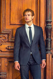 Portret Młody Seksowny Klasyczny Biznesowy mężczyzna Obraz Royalty Free