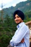 Portret młody sikhijczyk w India fotografia stock