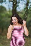 Portret młody uśmiechnięty kobieta w ciąży Zdjęcie Stock
