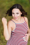 Portret młody uśmiechnięty kobieta w ciąży Obrazy Royalty Free