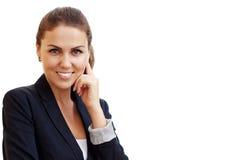 Portret młoda atrakcyjna biznesowa kobieta Fotografia Stock