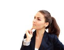 Portret młoda atrakcyjna biznesowa kobieta Zdjęcie Stock
