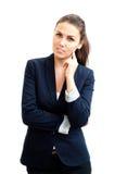 Portret młoda atrakcyjna biznesowa kobieta Obrazy Stock