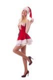 Portret młoda atrakcyjna seksowna Santa dziewczyna Obraz Royalty Free