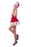 Portret młoda atrakcyjna seksowna Santa dziewczyna Zdjęcie Royalty Free