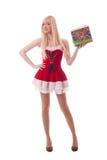 Portret młoda atrakcyjna seksowna Santa dziewczyna Fotografia Royalty Free