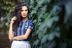 Portret młoda dama fotografia stock