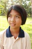Portret młoda dziewczyna ma dobrego czas Obrazy Royalty Free