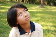 Portret młoda dziewczyna ma dobrego czas Fotografia Royalty Free