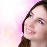 Portret młoda dziewczyna Skóry opieki Face ilustracja wektor