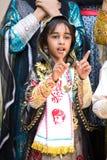 Portret młoda Omani dziewczyna w tradycyjnym stroju Zdjęcia Stock