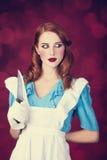 Portret młoda rudzielec kobieta Zdjęcie Stock